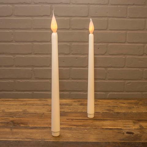 Stick Candle, LED, Silicone Bulb, 4.25 in., Battery Op, White, 2 pack