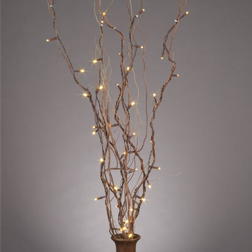 Lighted Natural Willow Branches, 39 Inches, Battery Op., Timer, 5 Branches