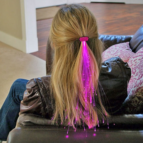 Glowbys Light-up Fiber Optic Hair Barrette with GEMS, PINK