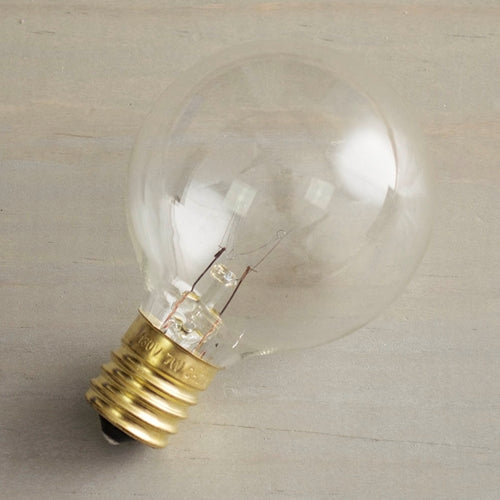 Replacement Globe Light Bulb, G50, 7W/130V, E17 Base, Clear