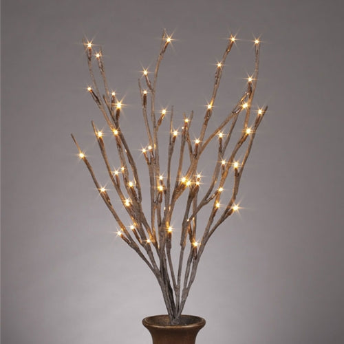 Lighted Everlasting Glow Branches, Bendable, Battery, 20 Inch, Brown
