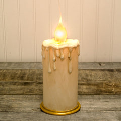 5 in. Pillar Candle Lamp, Silicone Tip Bulb, On/Off Switch, Plug-In