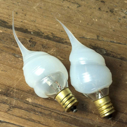 Replacement Bulb, Silicone Tip Pearl, 5W/120V for Candle Lamps, 2 Pack