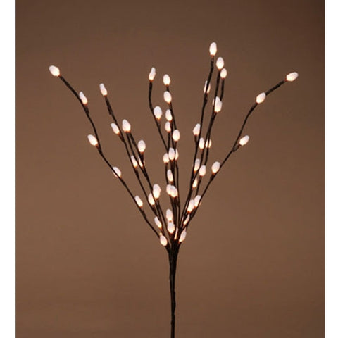"39"" Brown Wrapped Willow Branches, with Timer, 2 Branches, and 60 Warm White LED Lights"