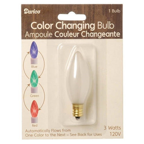 Replacement Bulb for Battery Powered Color-Changing Candle Lamp, 3V DC