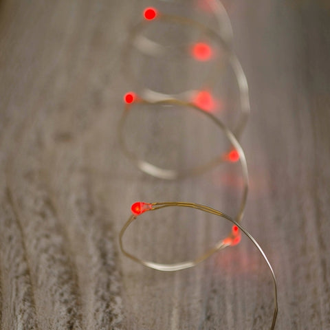 String Lights, 12 ft, Plug-in, Brown Wire, Clear