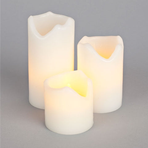 Flameless LED Pillar Candle, Battery Operated with Remote, 5 inch