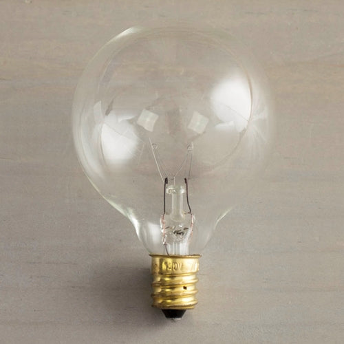 Replacement Globe Light Bulb, G50, 7w/130v, E12 Base, Clear
