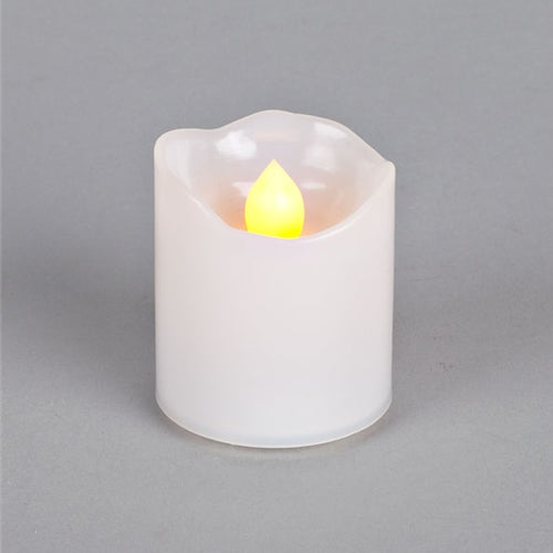 Flameless LED Votive Candle, Melted Edge