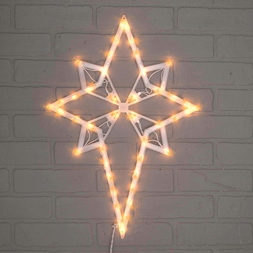 Window Decoration, Star of Bethlehem, 18 inches, 35 lights, Plug-in