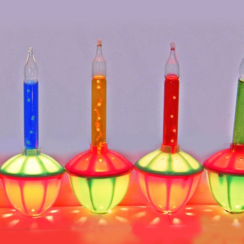 Bubble String Lights, Real Bubbles, 9 ft, Plug-in, Multicolor
