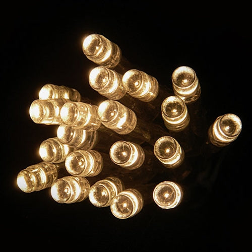 Wide Angle LED String Lights, Battery Operated, 6 Foot Silver Wire, Warm White