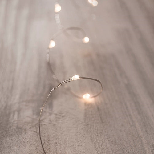 Bridal Fairy Lights, LED, 4 foot, Silver Wire, Battery, Warm White