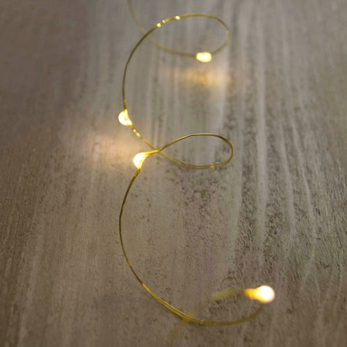 Bridal Fairy Lights, LED, 4 foot, Gold Wire, Battery, Warm White