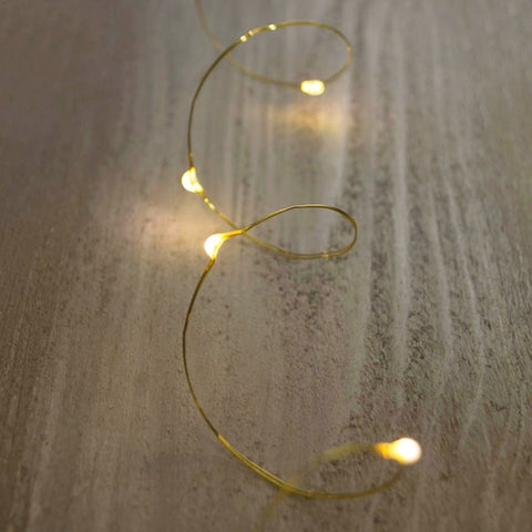 Fairy Moon Lights, LED, 4 foot, Silver Wire, Battery, Red