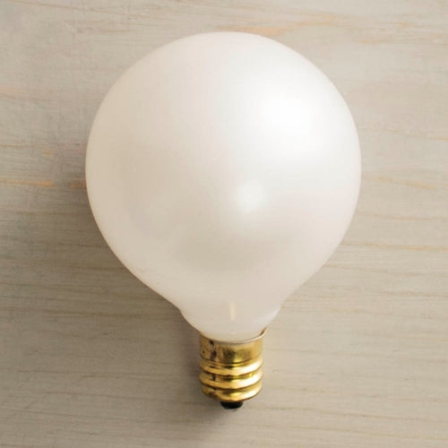 Replacement Globe Light Bulb, G50, 7W/130V, E12 Base, Pearl