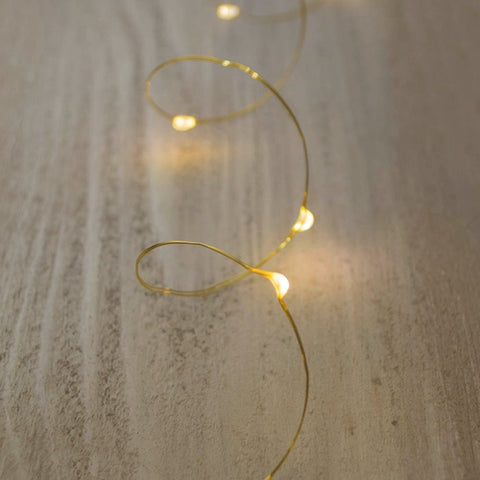 Fairy Moon Lights, LED, 4 foot, Silver Wire, Battery, Warm White
