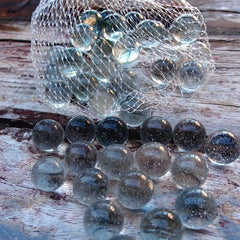 Glass Marbles, Clear, Vase Filler