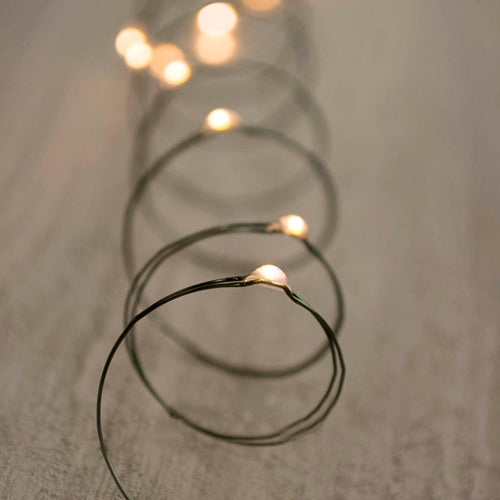 LED Fairy Lights, Triple Function, 9 Feet, Battery Operated, Warm White