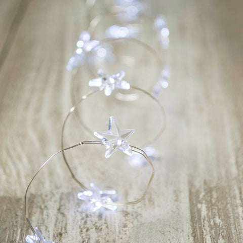 Rice String Lights, Battery Operated, 5 Foot White Wire, Warm White