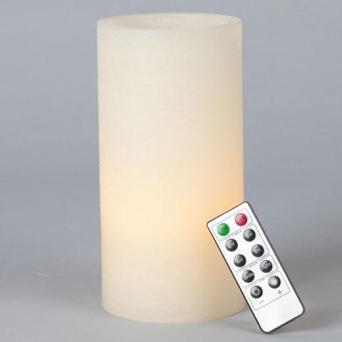 Pillar Candles w/Remote Control, 2 Pack: 6x3, Real Wax Melted Edge