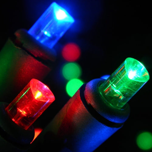LED String Lights, 20 Multi Wide Angle Bulbs, Plug In, Battery Operated