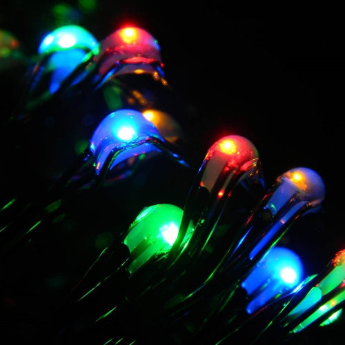 LED Fairy Light, 10 Ft, Green Wire, Battery, Multifunction, Multicolor