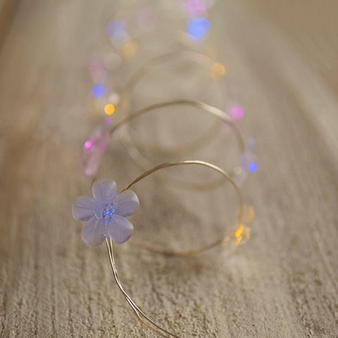 Fairy Lights, 3.3 ft. Battery Op LED, Green Four Leaf Clover Shamrocks