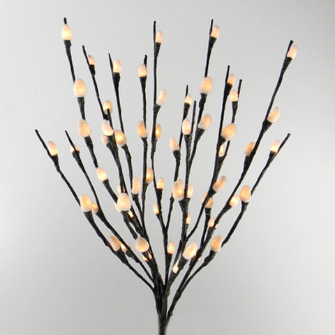 LED Lighted Bendable Branch, 20 in., Acrylic Flowers, Battery, Yellow