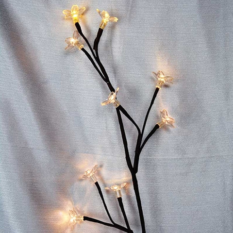 LED Edelweiss String Lights, 16.5 ft. Silver Wire, Plug in, WARM WHITE