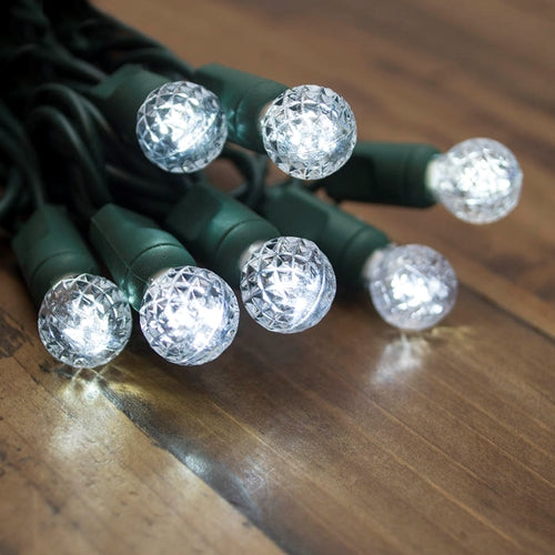 String Lights, Raspberry LED Bulbs, 24 ft, Outdoor, Plug-in, Cool White