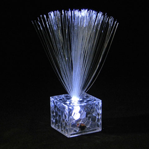 Mini Fiber Optic Centerpiece, Cube Base, 5.5 in. Tall, COLOR CHANGING, Set of 12
