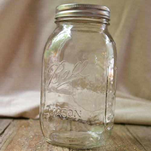 Mason Jar With Lid, Small Mouth, Quart, Canning, 32 oz