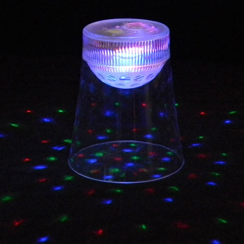 LED Lighted Cup, Light Projecting, Multi Color, Multi Function, Set of 6