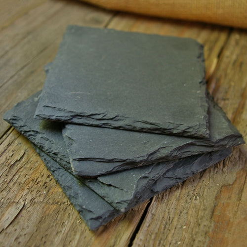 Small Slate Chalkboard Squares, 4 inch, Set of 4