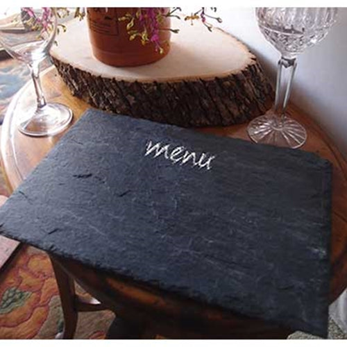 Rectangular Slate Blackboard, Chalkboard, Sign, Display 8 x 12 inches