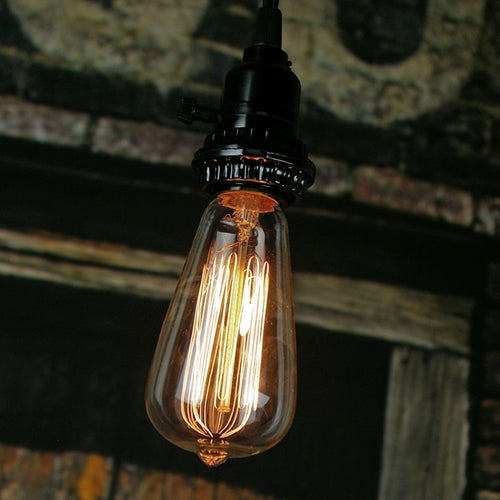Vintage Antique Bulb, E27 Base, 40 Watt, 120 Volt, Clear, Edison Style