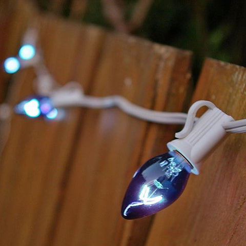LED String Lights, 70 Wide Angle Bulbs, 24 feet, Plug-in, Blue