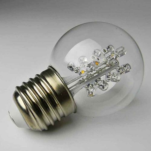 Replacement LED Globe Light Bulb, 2 in. Glass G50, 0.7W/120V, Warm White