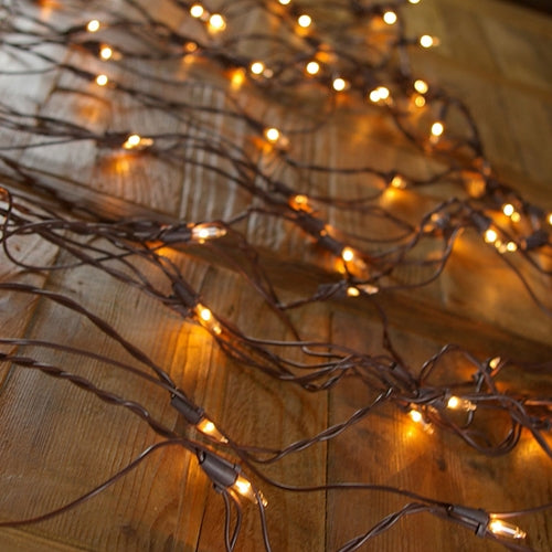 Net Lights, Brown Wire, 150 Bulbs, 4x6 ft., Plug in, CLEAR