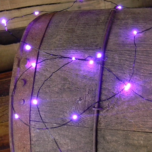 Fairy Lights, 36 LEDs, 9 ft, Battery Operated, Multi Function, PURPLE