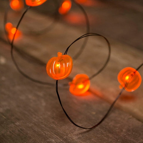String Lights, Harvest, 12 feet, Brown Wire, Outdoor, Clear & Orange