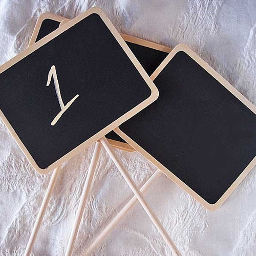 Chalkboard Stakes for Guest Table Numbers, Large Rectangle, 4 Pack