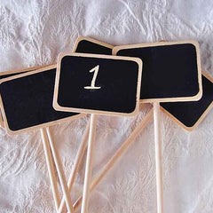 Chalkboard Stakes for Guest Table Numbers, Small Rectangle, 6 Pack