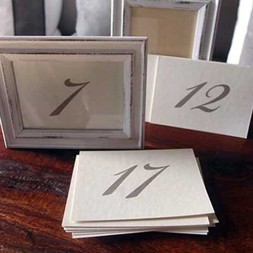 Double-Sided Number Cards, 3.5 x 5 in, 25 pc, Brown on CREAM