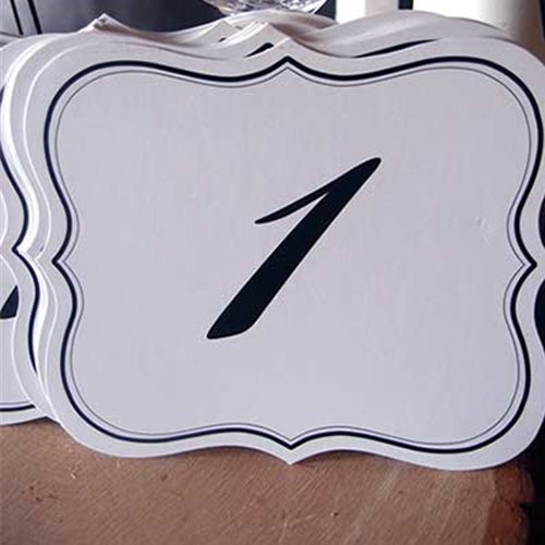 Double-Sided Number Cards 5-7/8 x 5 in, 25 pc, Black on WHITE