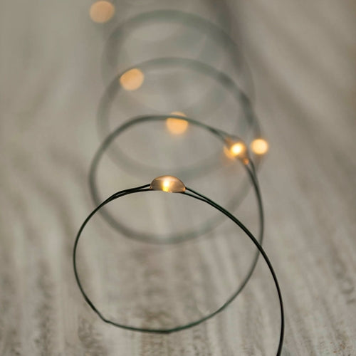 LED Fairy Lights, Green Wire, 11 Foot, Multifunction, Warm White