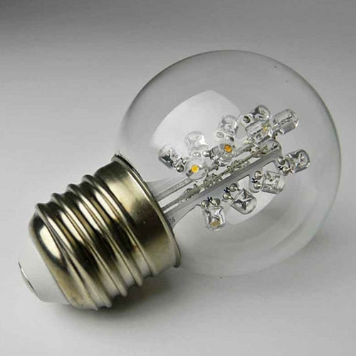 Replacement LED Globe Light Bulb, 2 in. Glass G50, 0.7W/120V, Cool White