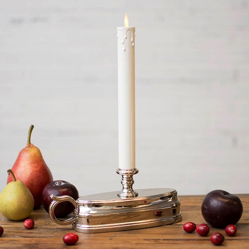 Luminara Window Candle, Battery Operated, Timer, Moving Flame, Nickel