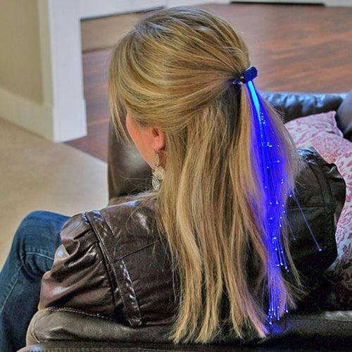 Glowbys Light-up Fiber Optic Hair Barrette with GEMS, BLUE